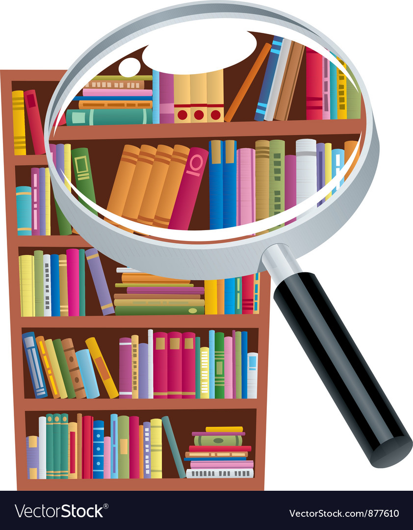 Research bookshelf vector | Price: 3 Credit (USD $3)