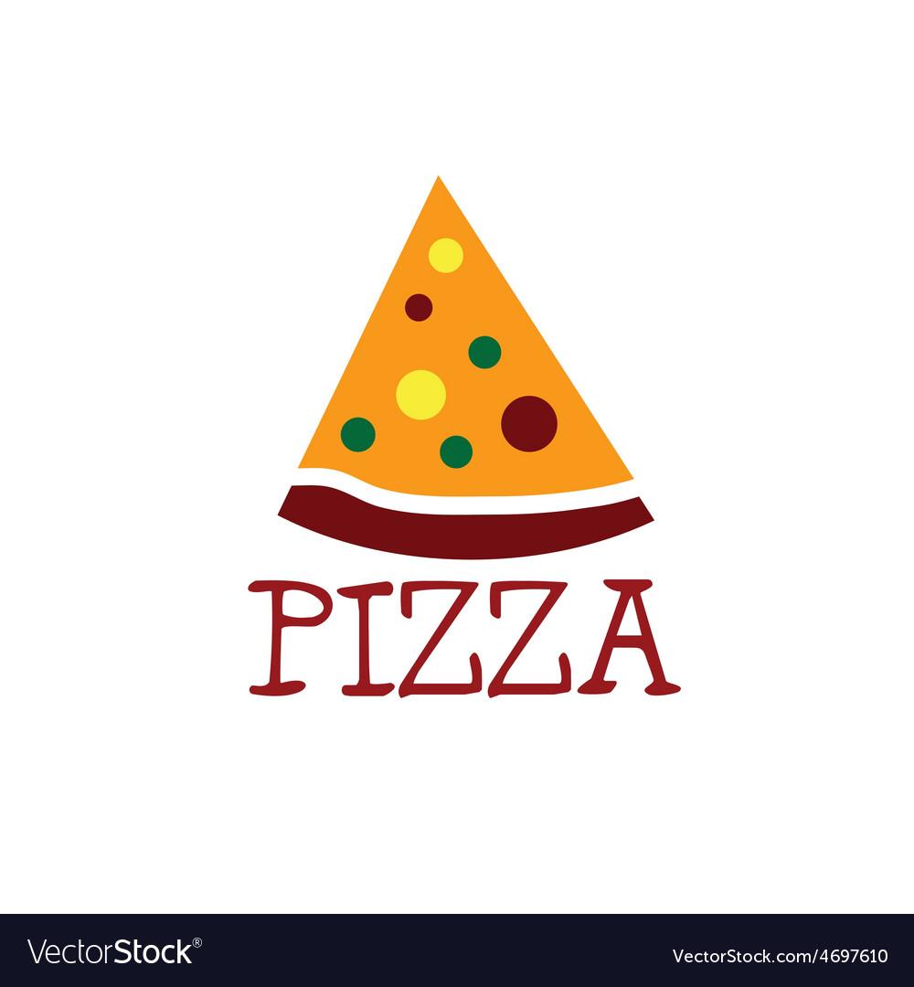 Slice of pizza design template vector | Price: 1 Credit (USD $1)