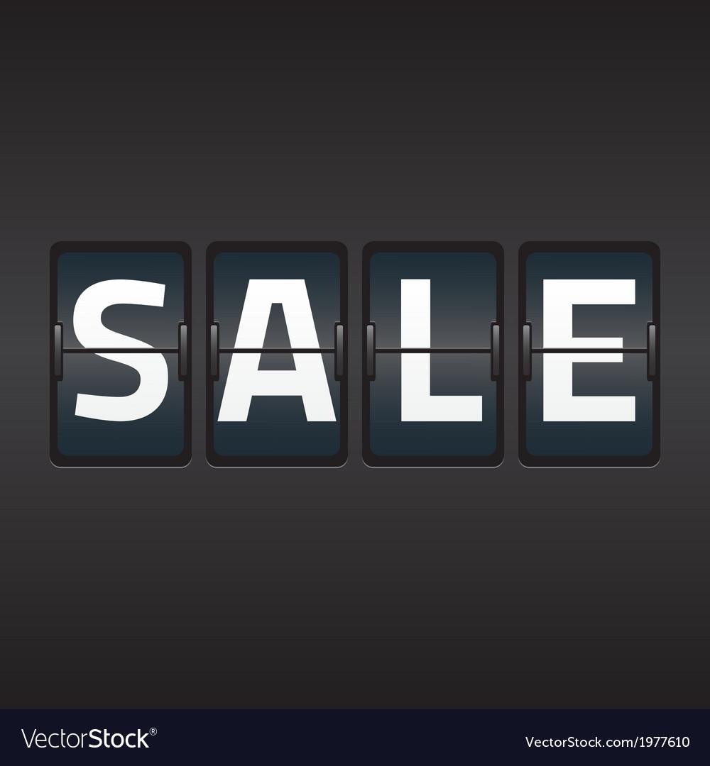 Split flap sale vector   Price: 1 Credit (USD $1)