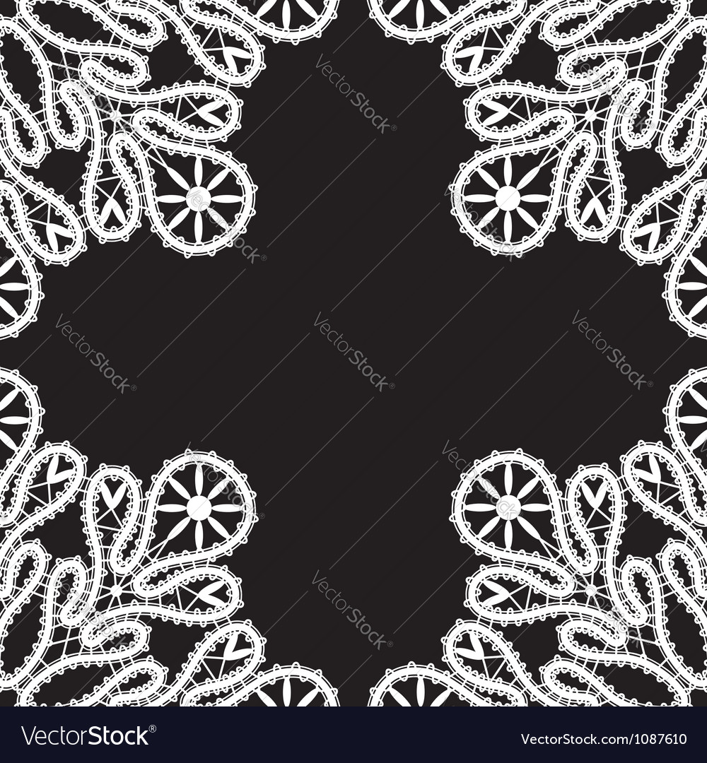 White lace on black vector   Price: 1 Credit (USD $1)