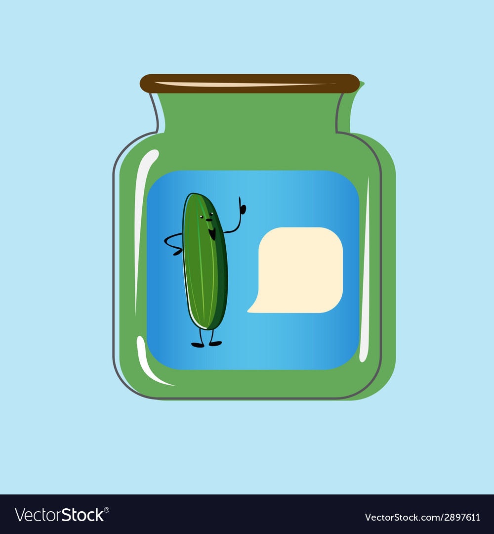 Bank with home canned pickles design vector   Price: 1 Credit (USD $1)