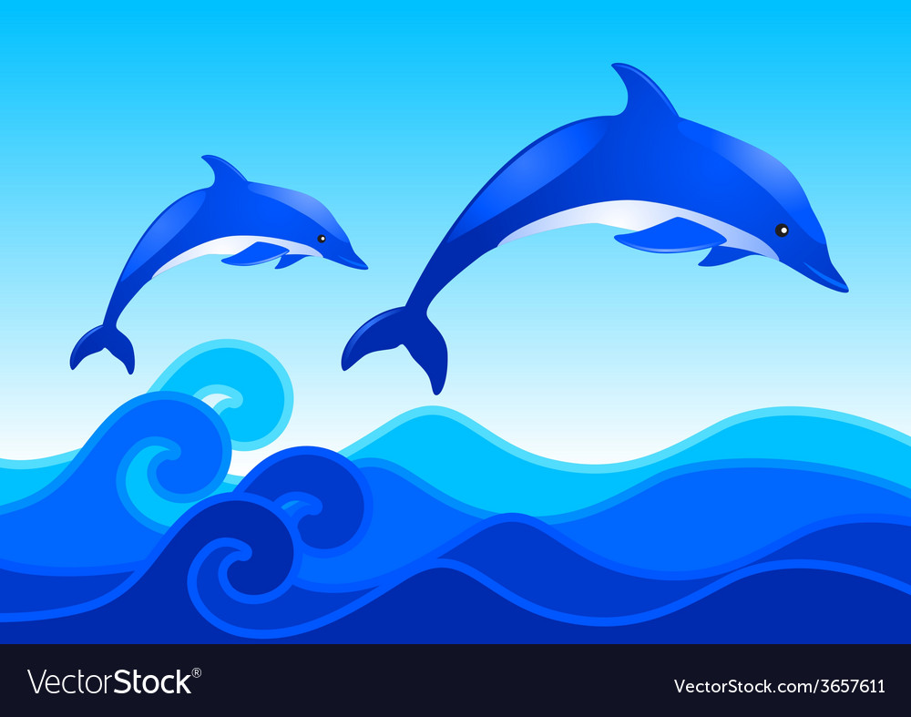 Blue ocean vector | Price: 1 Credit (USD $1)