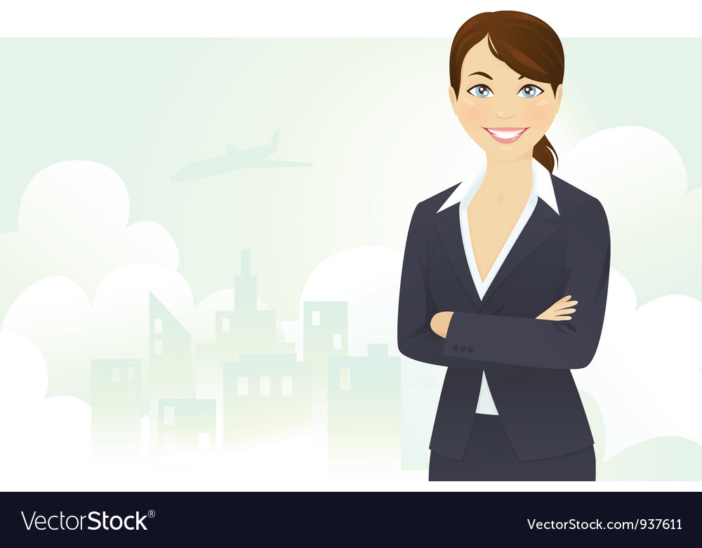 Cheerful businesswoman vector | Price: 3 Credit (USD $3)