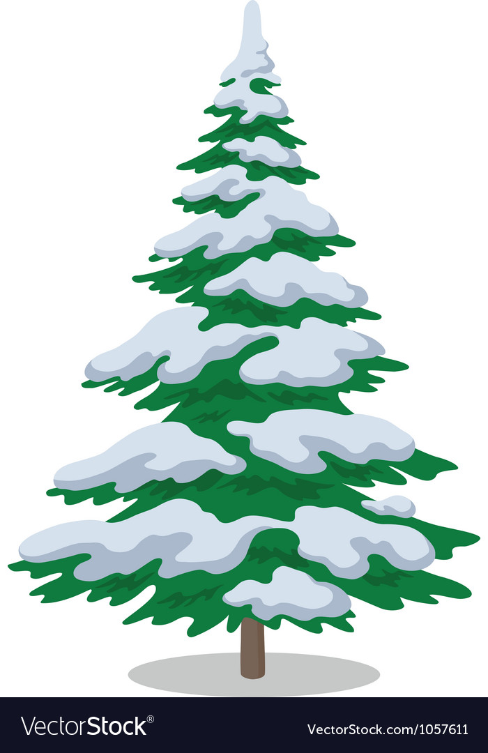 Christmas tree with snow vector | Price: 1 Credit (USD $1)