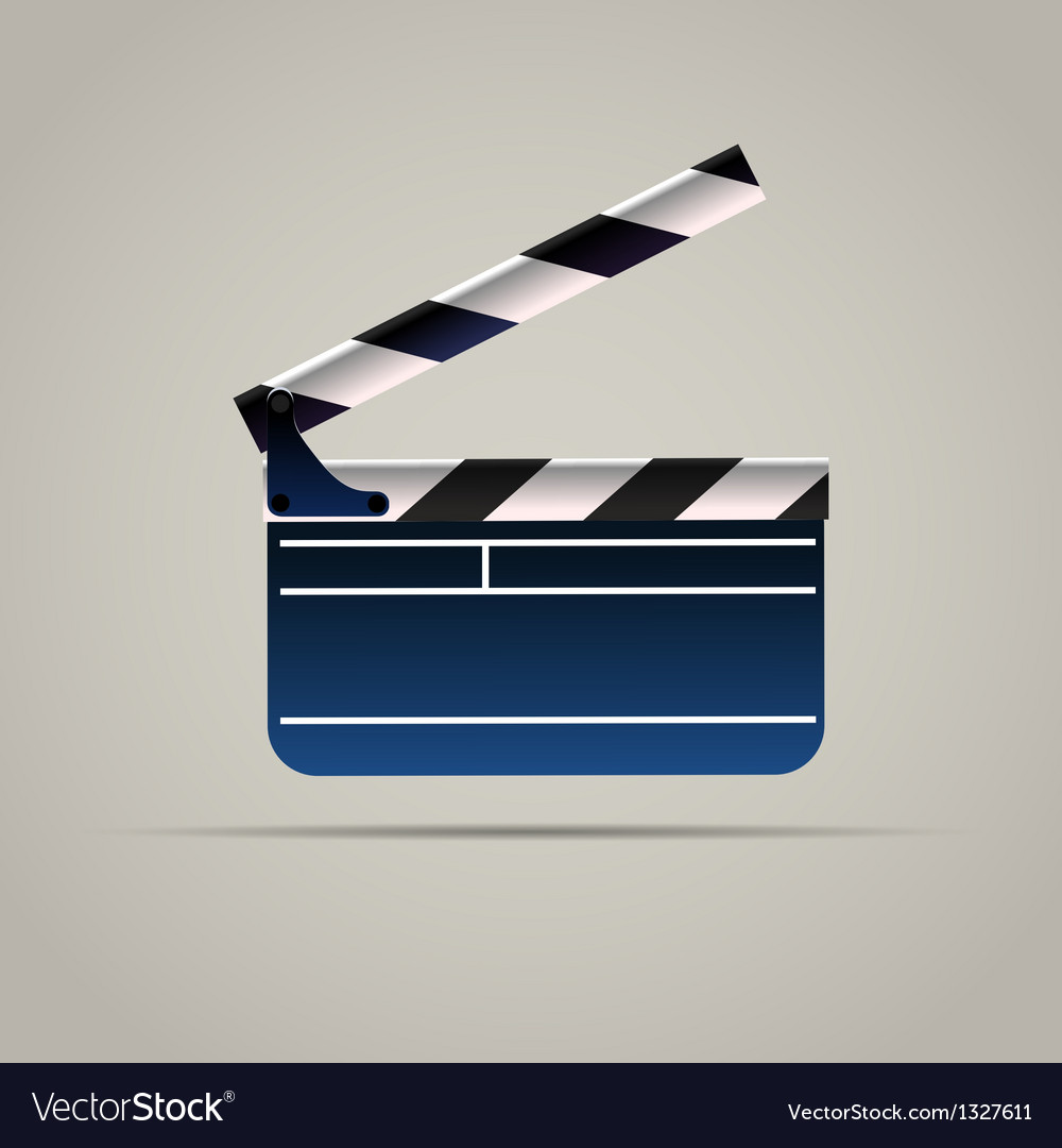 Cinema film clap board icon vector | Price: 1 Credit (USD $1)