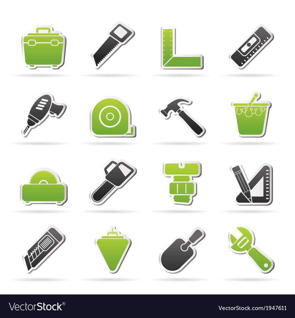 Construction objects and tools icons vector   Price: 1 Credit (USD $1)