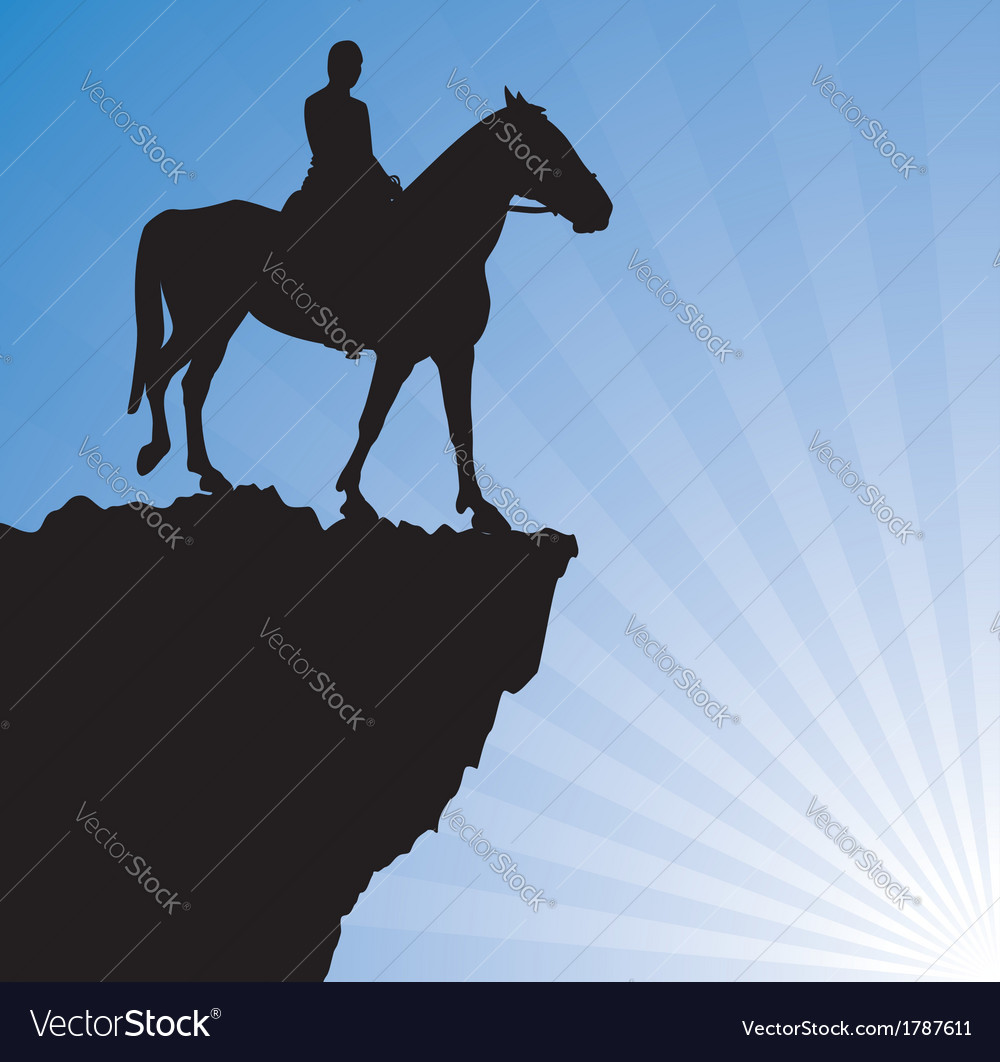 Man on the horse vector | Price: 1 Credit (USD $1)
