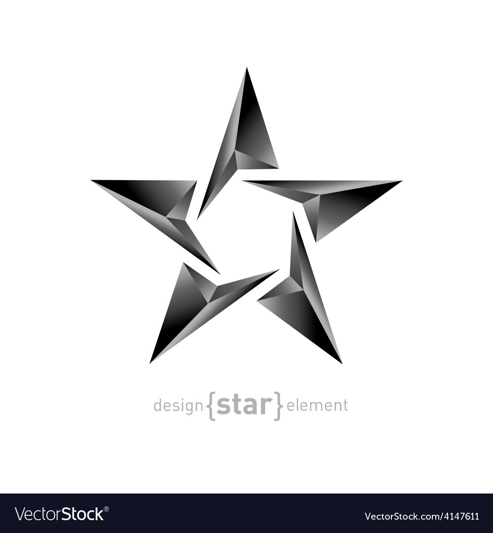 Metal star on white background vector | Price: 1 Credit (USD $1)