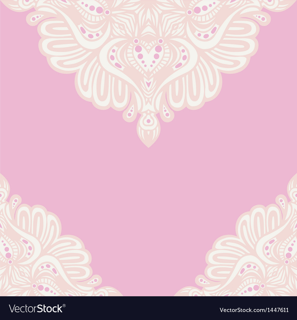 Pink lace ornament vector | Price: 1 Credit (USD $1)