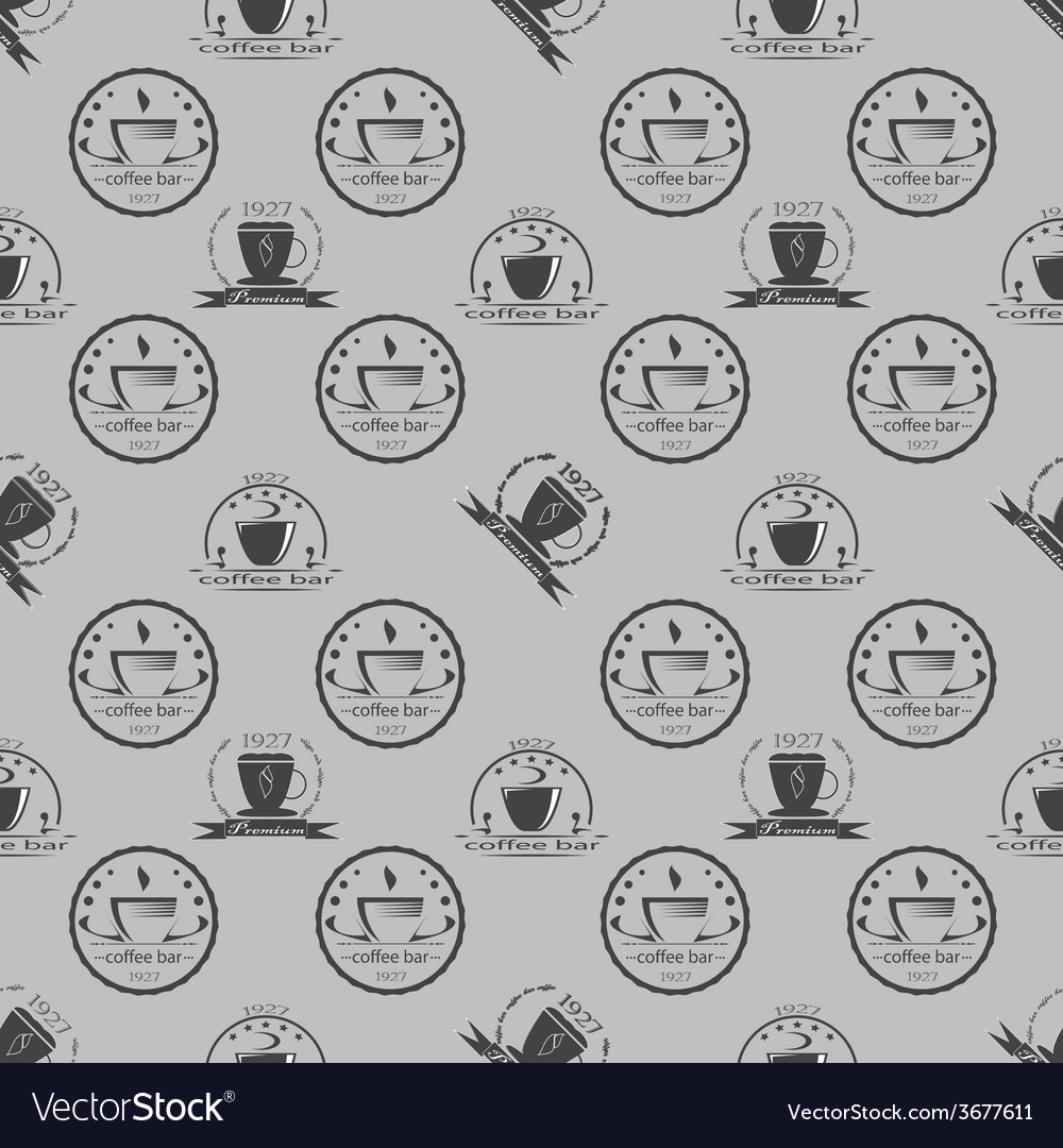 Set of vintage coffee themed monochrome labels vector   Price: 1 Credit (USD $1)
