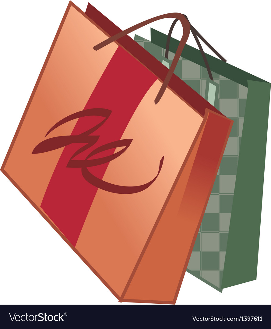 Two shopping bags vector | Price: 1 Credit (USD $1)