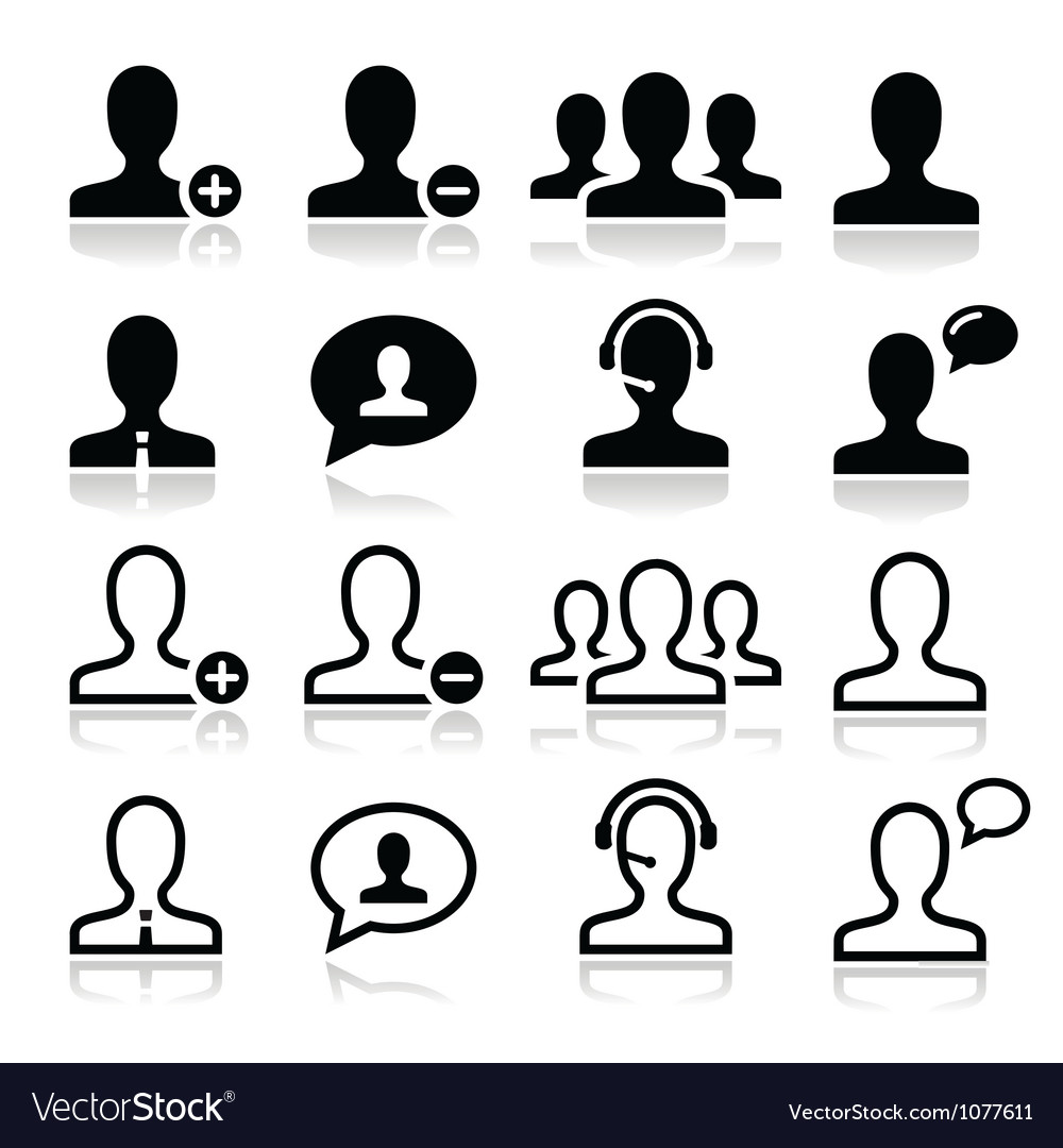 User man avatar icons set vector | Price: 1 Credit (USD $1)
