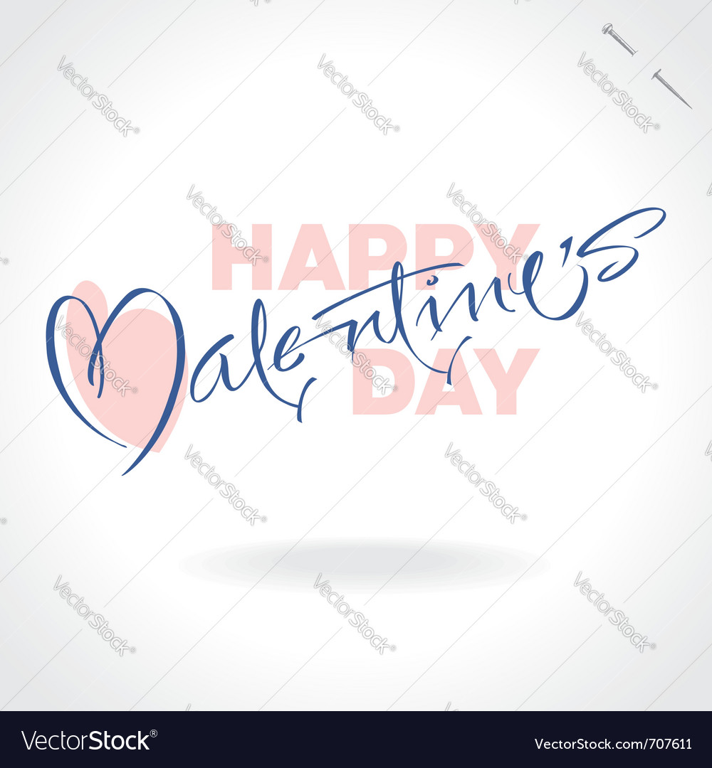 Valentines hand lettering vector | Price: 1 Credit (USD $1)