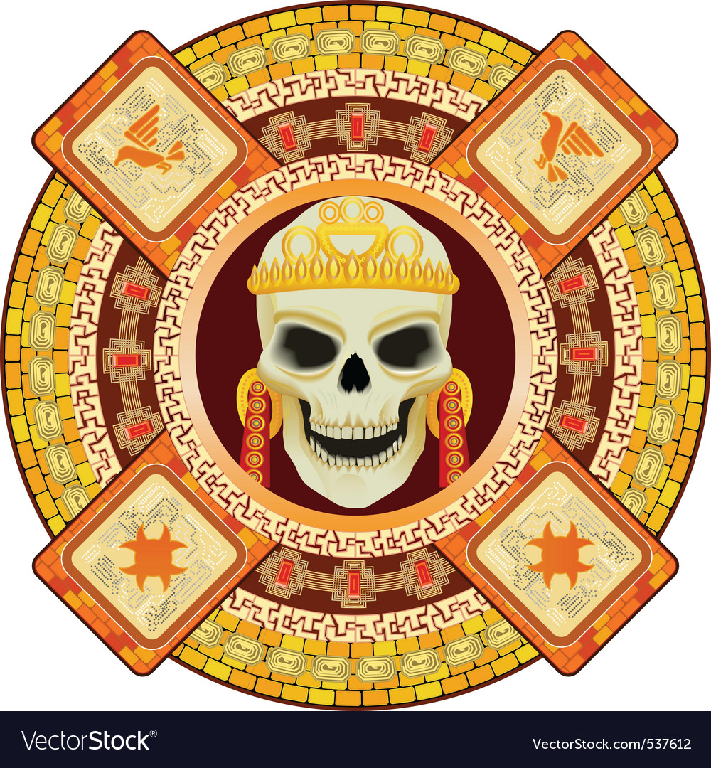 Aztec god of death vector | Price: 1 Credit (USD $1)