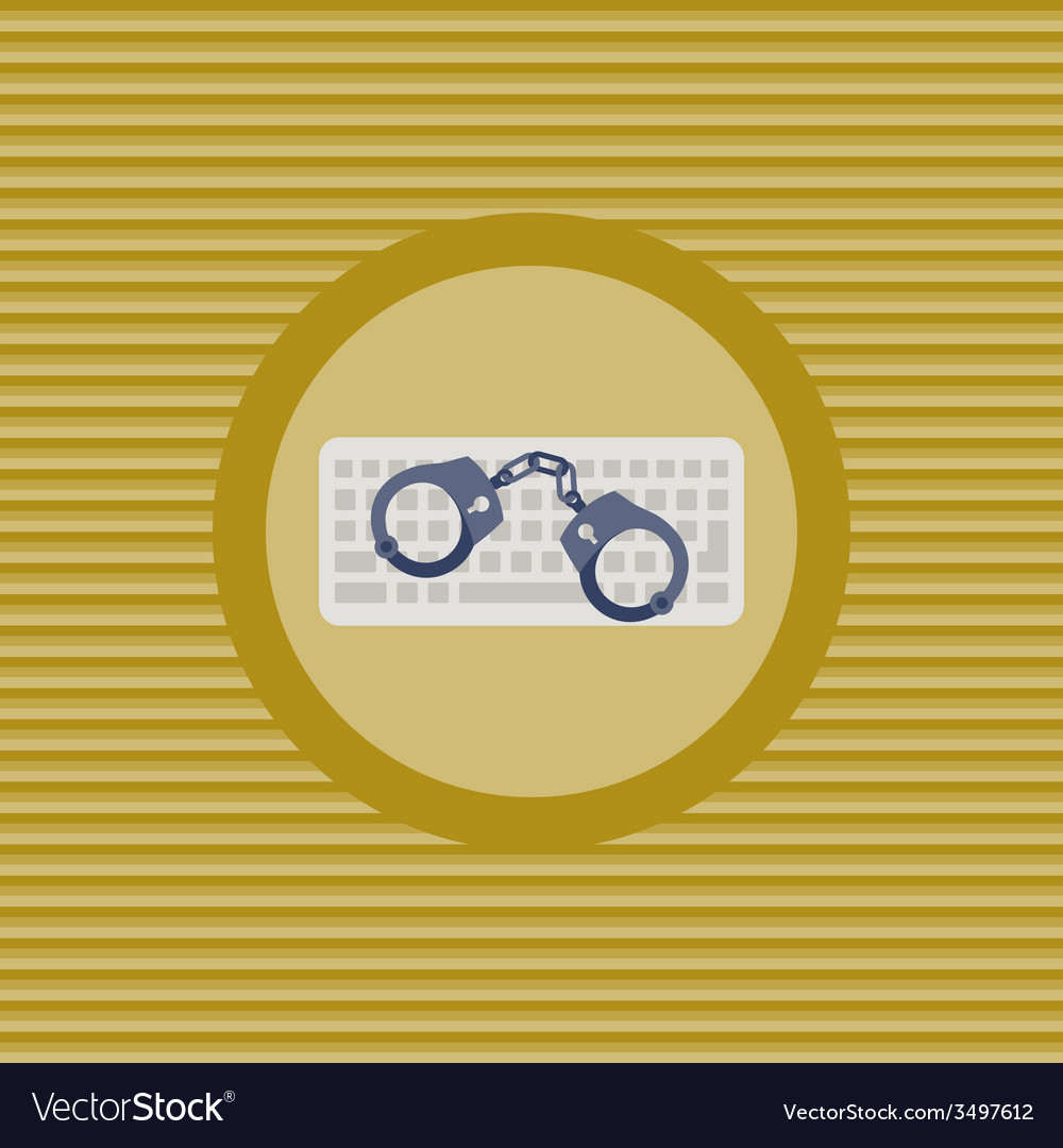 Cyber crime flat icon vector | Price: 1 Credit (USD $1)