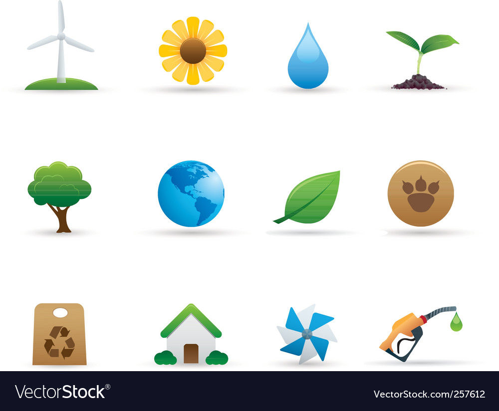 Ecology icons set vector   Price: 1 Credit (USD $1)
