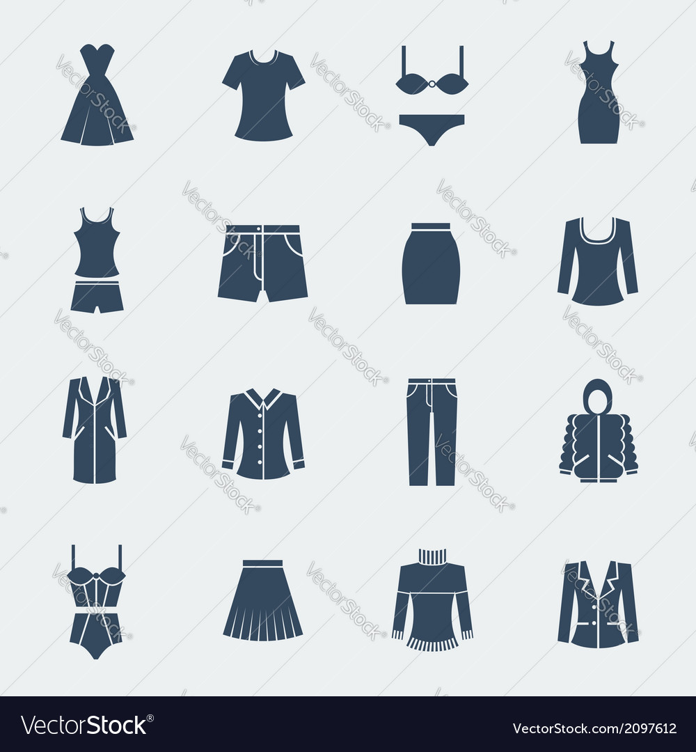 Fashion clothes for woman isolated on white vector | Price: 1 Credit (USD $1)