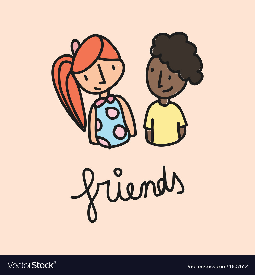 Friends vector | Price: 1 Credit (USD $1)
