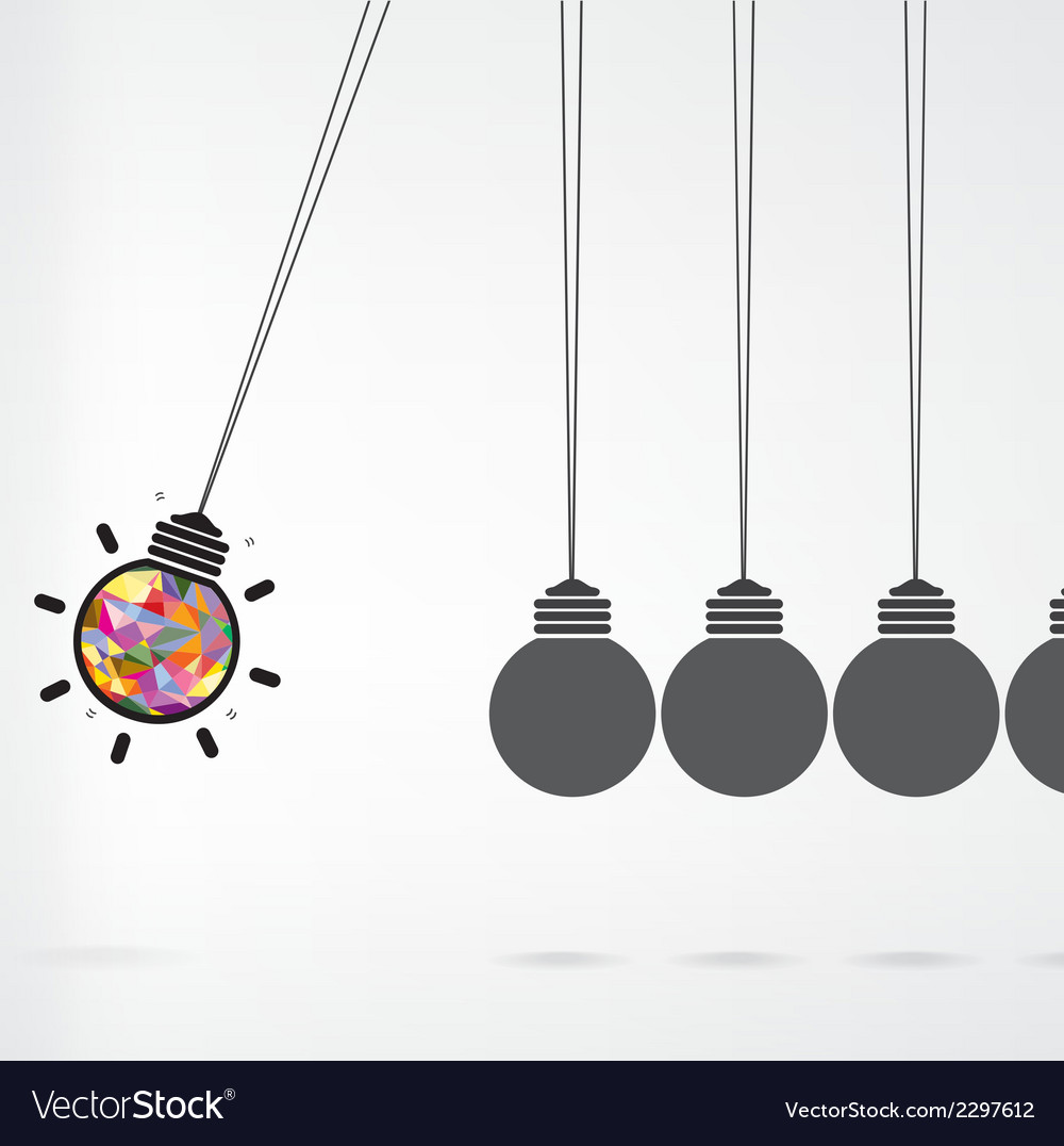 Newtons cradle concept on background vector | Price: 1 Credit (USD $1)