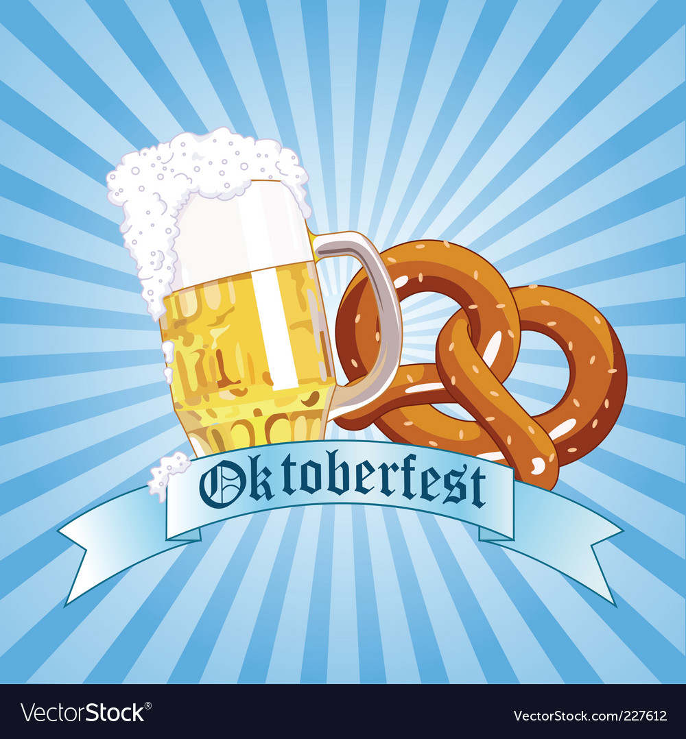 Oktoberfest celebration radial background vector | Price: 1 Credit (USD $1)