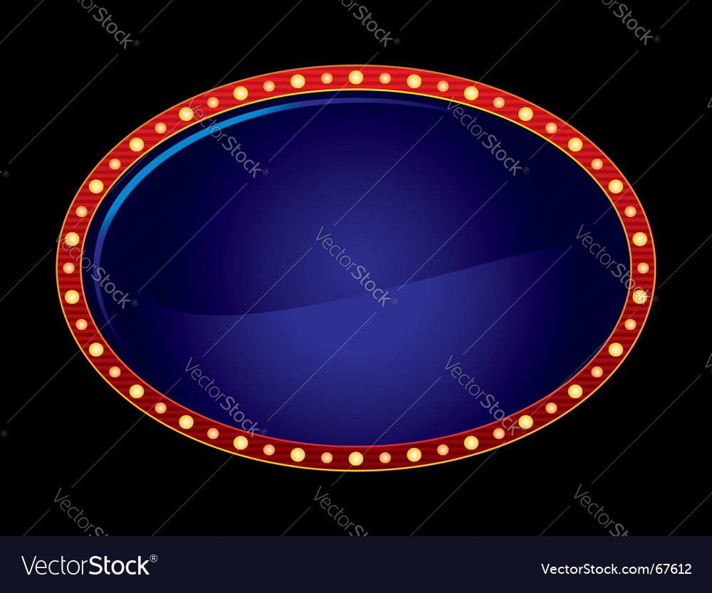 Oval neon vector | Price: 1 Credit (USD $1)