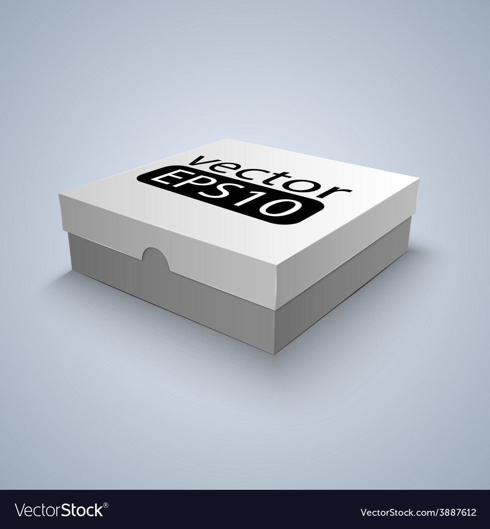 Package white box design vector | Price: 1 Credit (USD $1)