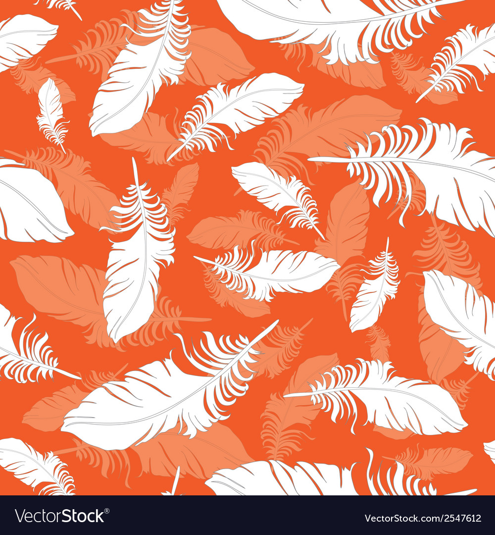 Plumage background seamless pattern vector | Price: 1 Credit (USD $1)