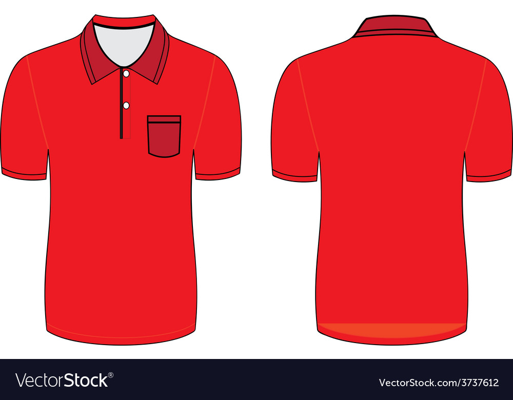 Red polo t shirt vector | Price: 1 Credit (USD $1)