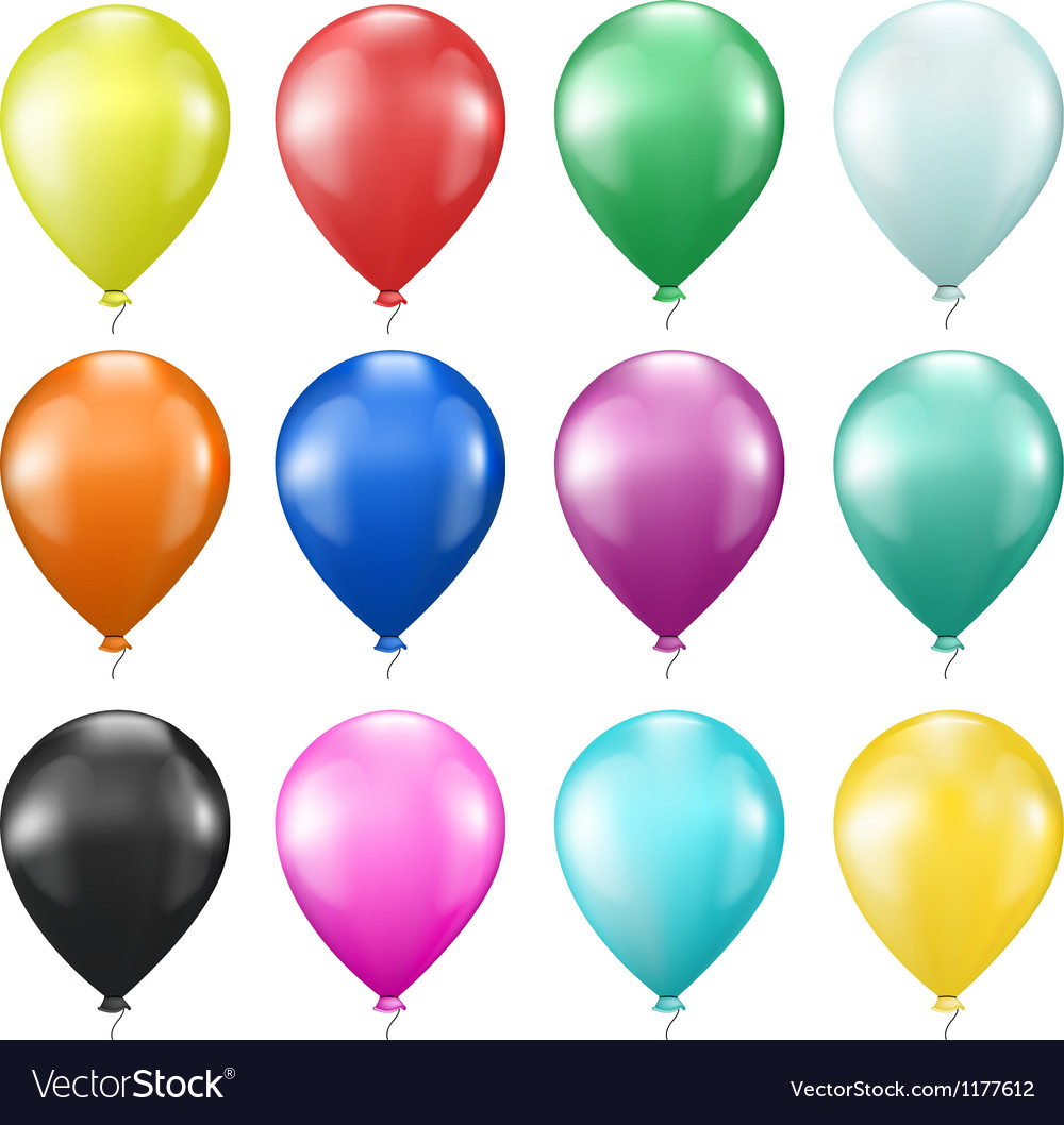 Set of colorful balloons vector | Price: 1 Credit (USD $1)