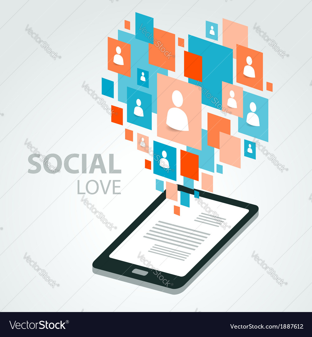 Social icon group element flirtation vector | Price: 1 Credit (USD $1)