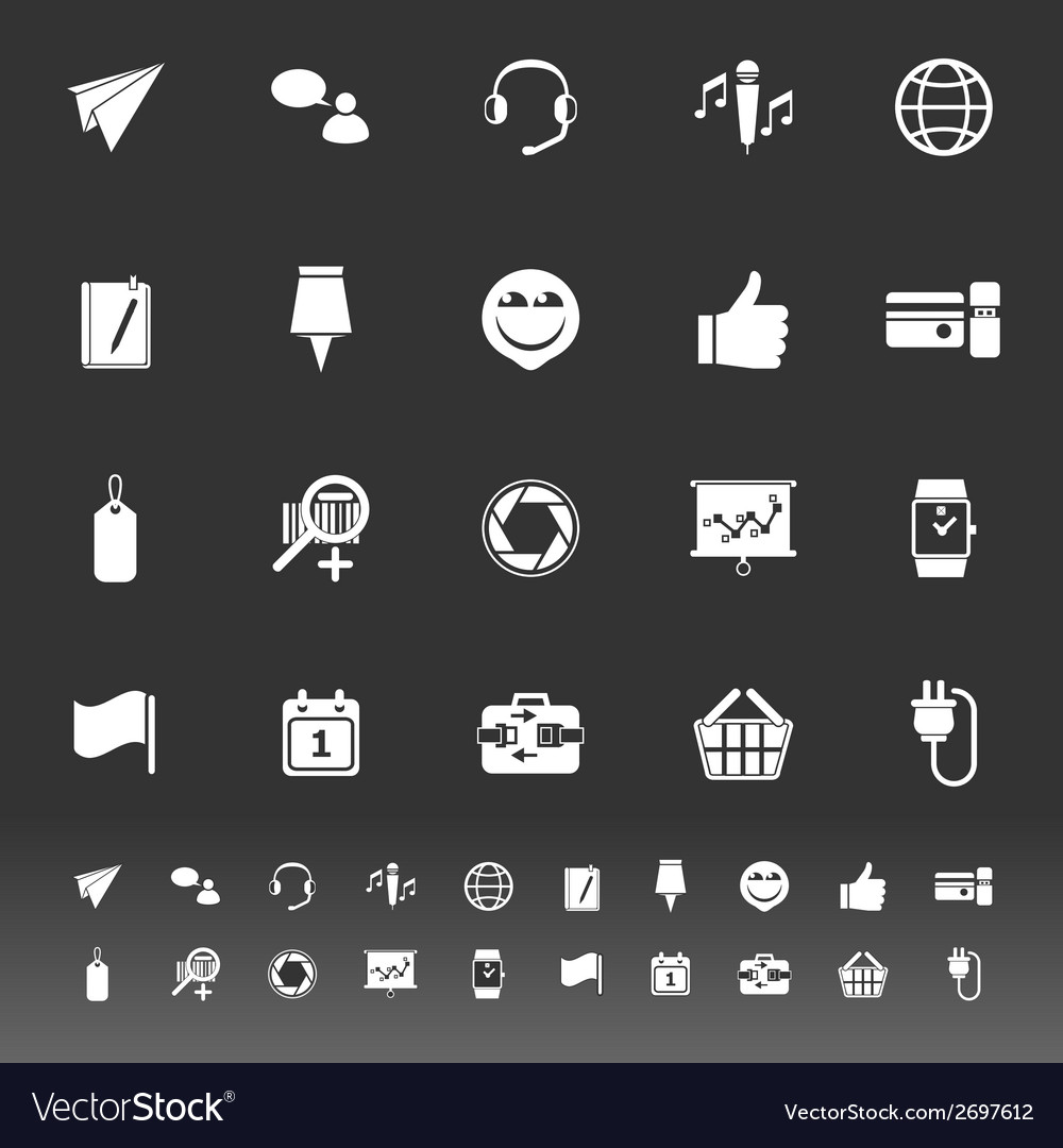 Technology gadget screen icons on gray background vector | Price: 1 Credit (USD $1)