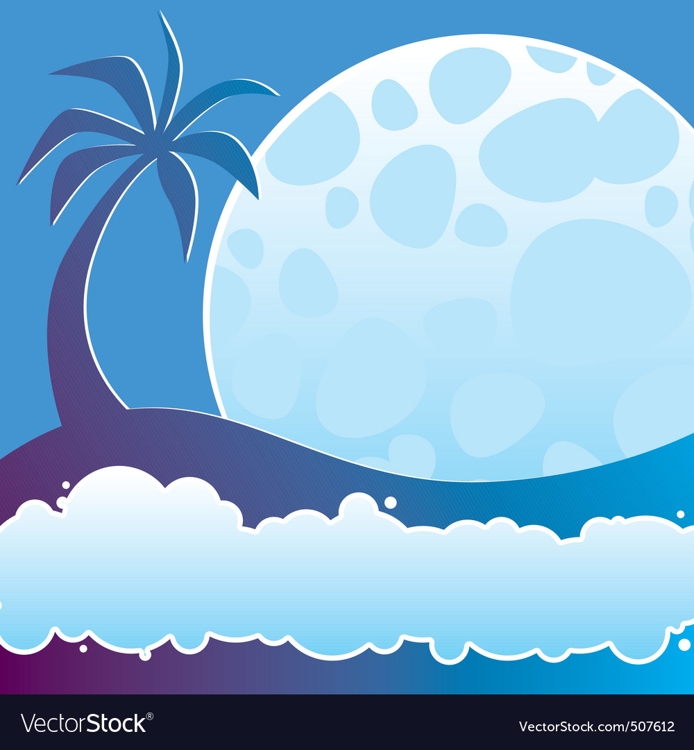 Tropical night vector | Price: 1 Credit (USD $1)