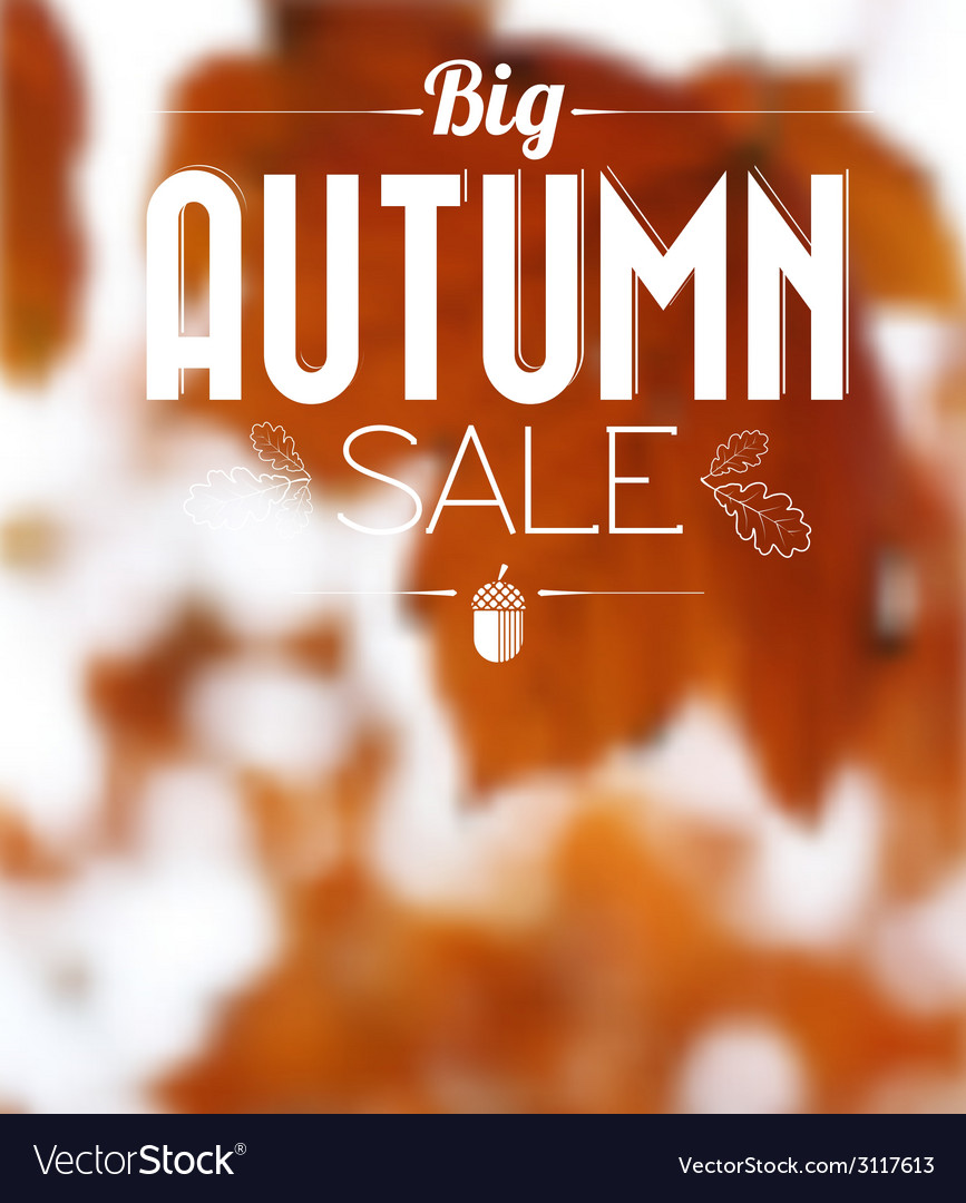 Autumn sale retro poster vector | Price: 1 Credit (USD $1)
