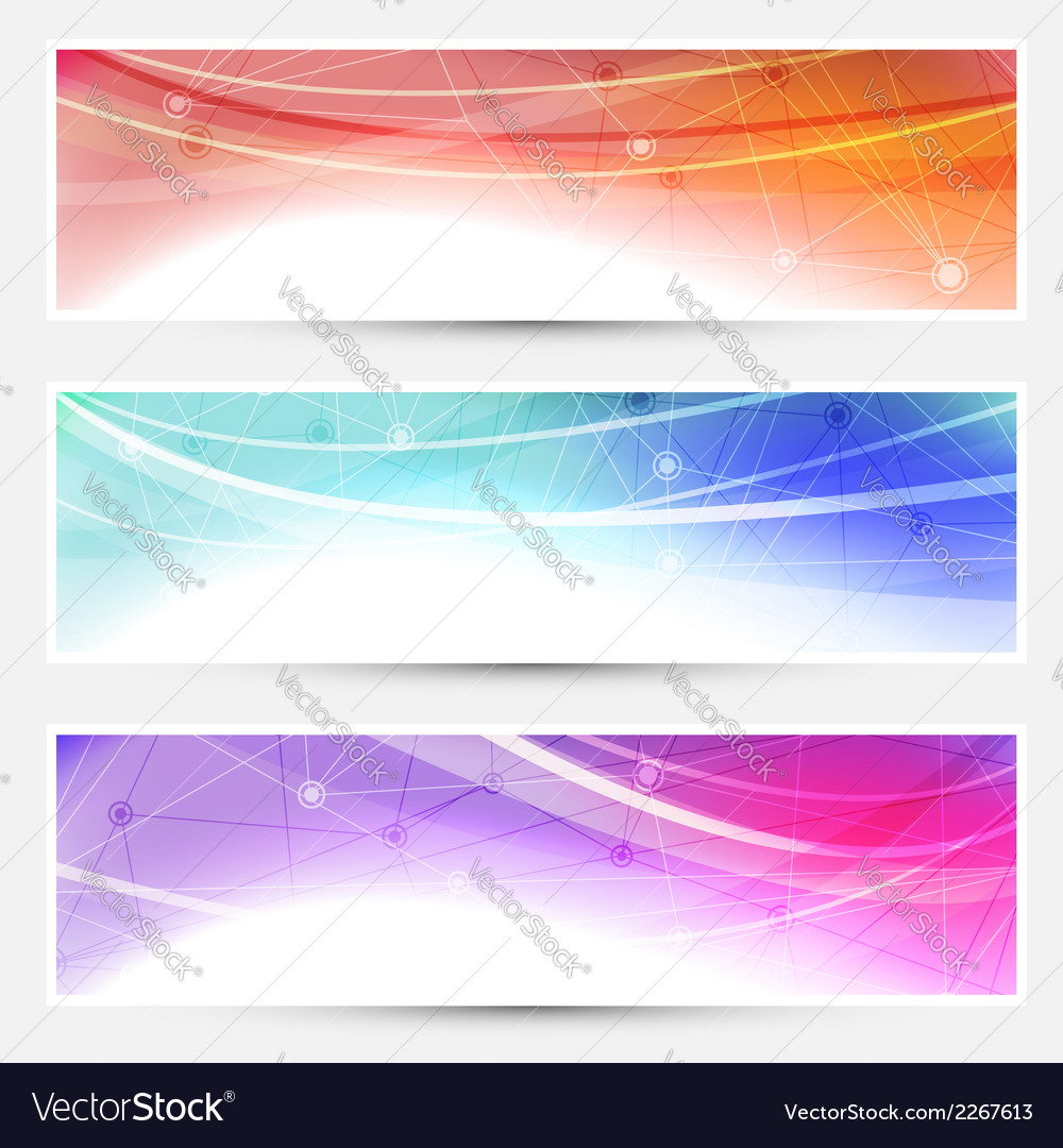 Collection web headers footers connection vector | Price: 1 Credit (USD $1)