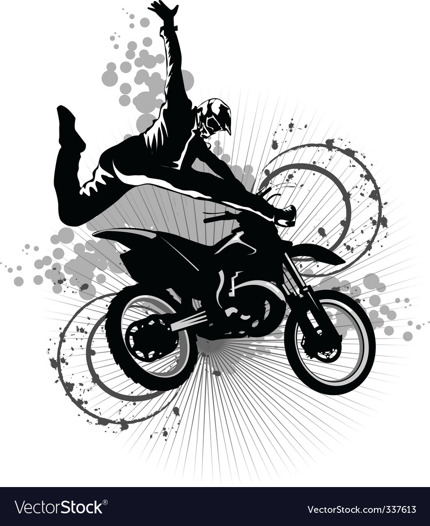 Dirt bike vector | Price: 1 Credit (USD $1)