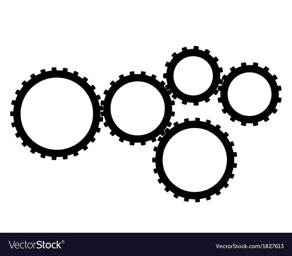 Five gear vector | Price: 1 Credit (USD $1)
