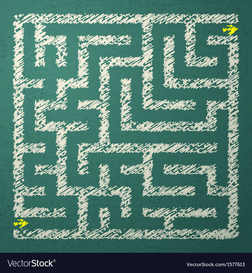 Green maze vector | Price: 1 Credit (USD $1)