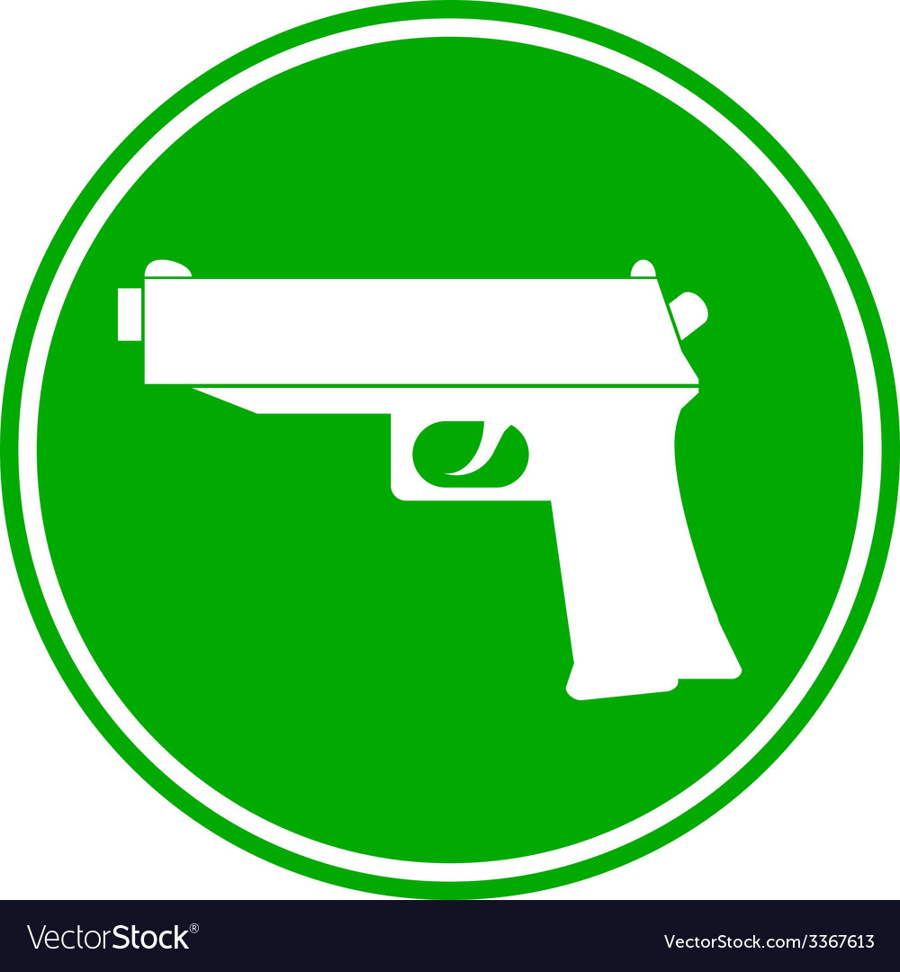 Gun button vector | Price: 1 Credit (USD $1)