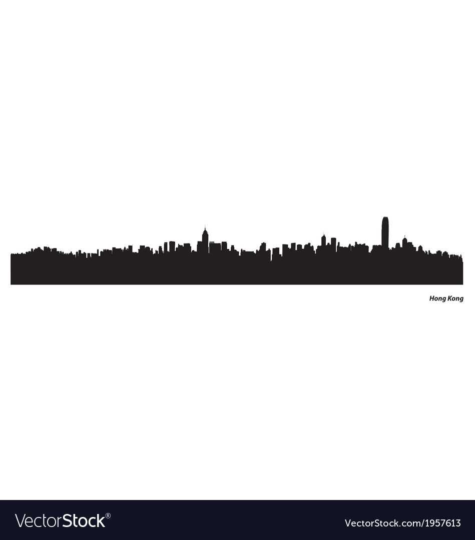 Hong kong skyline vector | Price: 1 Credit (USD $1)
