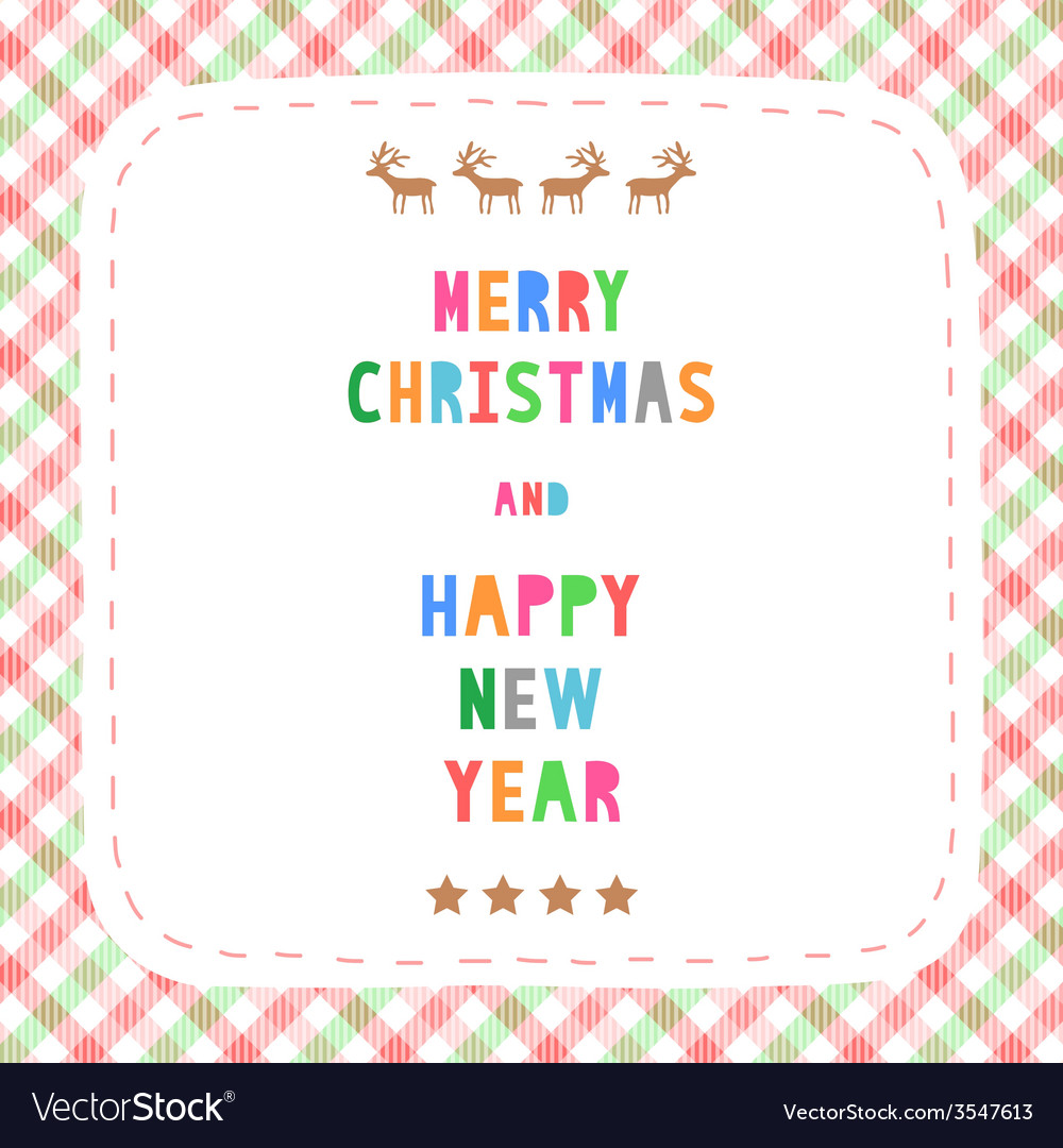 Mc and hny greeting card18 vector | Price: 1 Credit (USD $1)