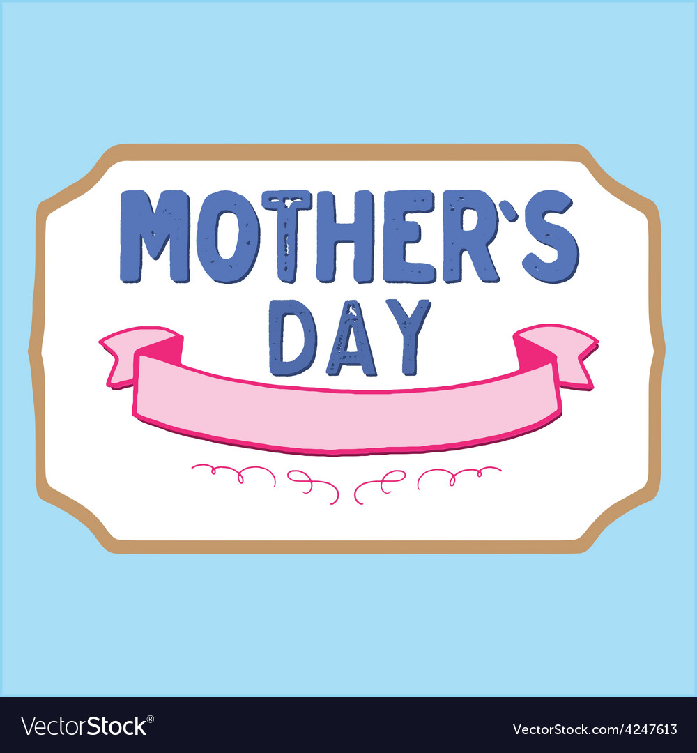 Mothers day badge vector | Price: 1 Credit (USD $1)