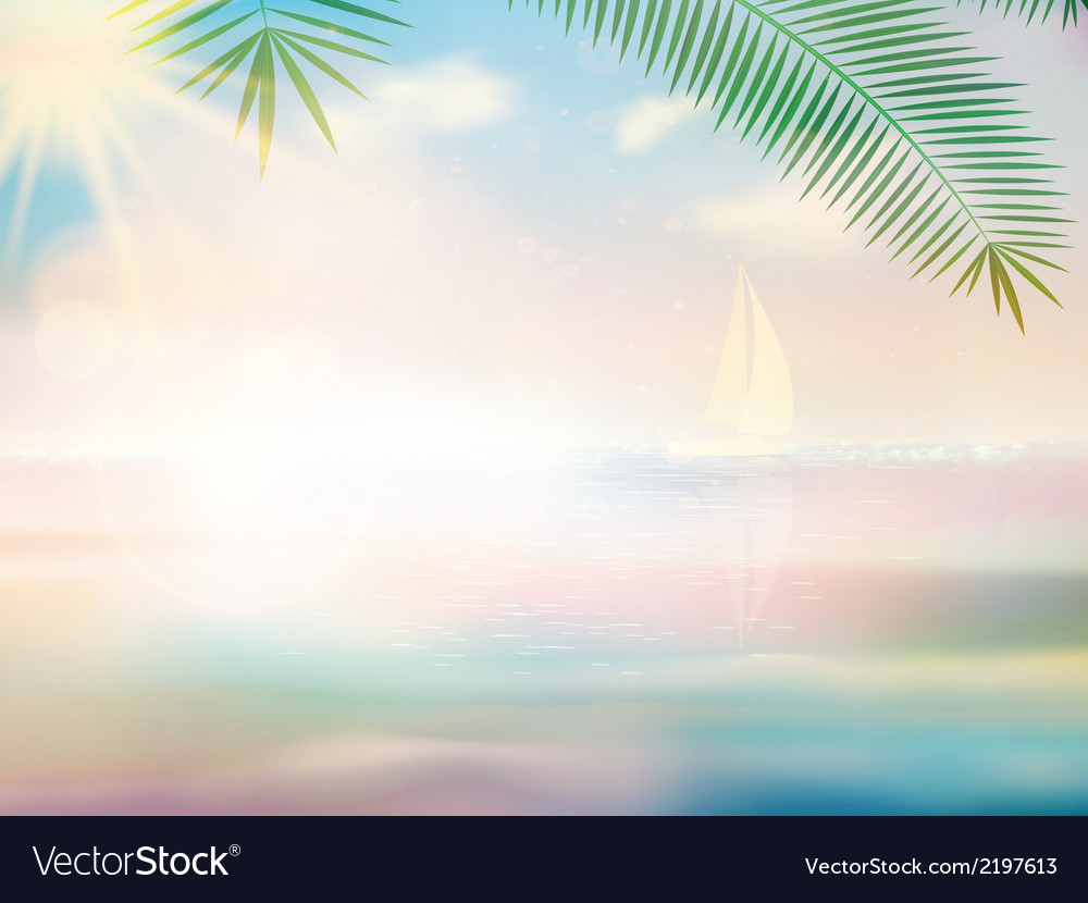Untouched tropical beach design template vector | Price: 1 Credit (USD $1)