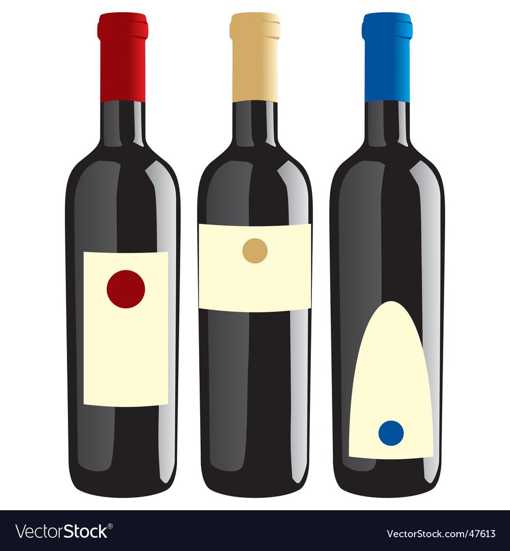 Wine bottles set vector | Price: 1 Credit (USD $1)