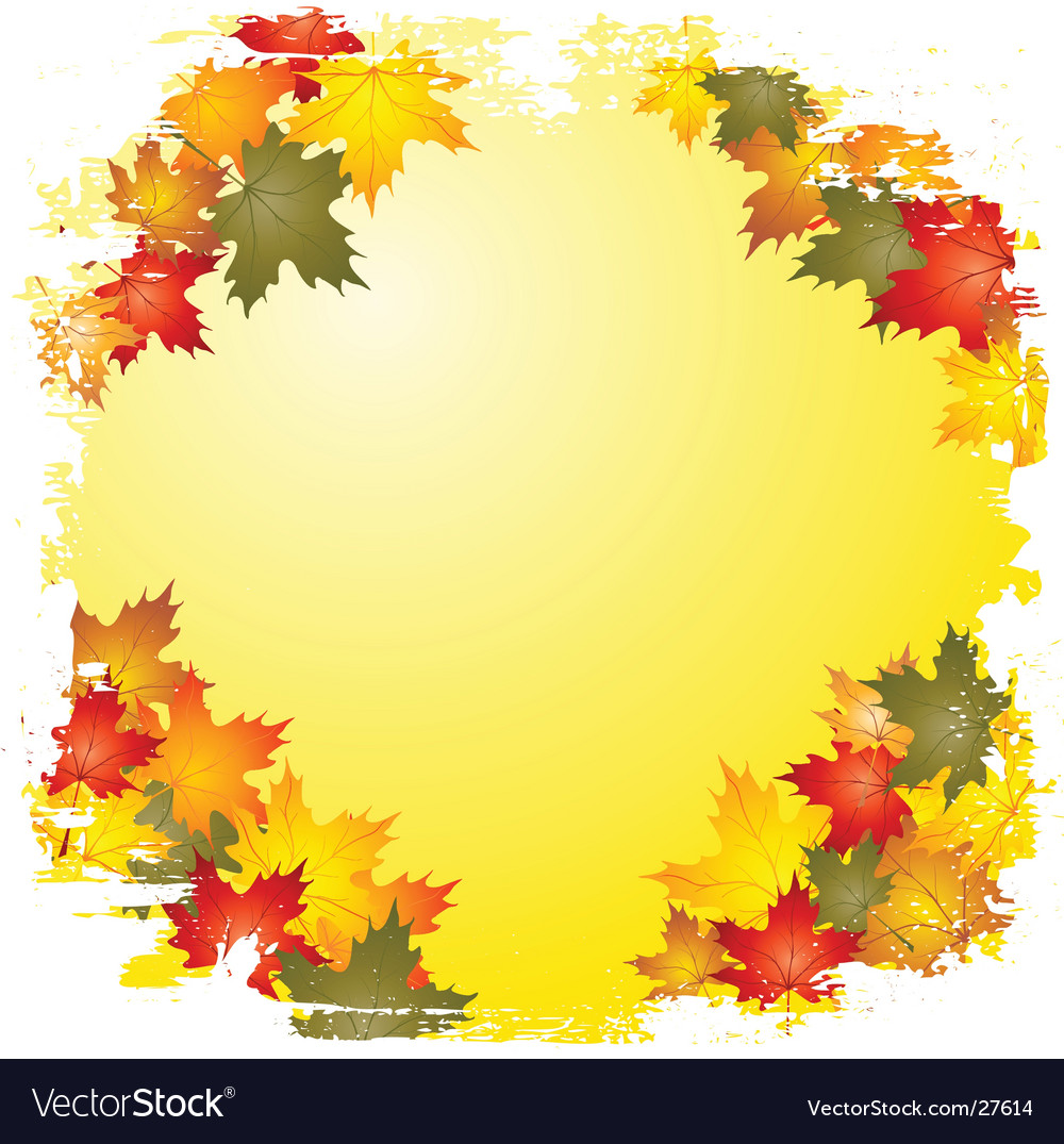 Autumn leaf boarder vector | Price: 1 Credit (USD $1)