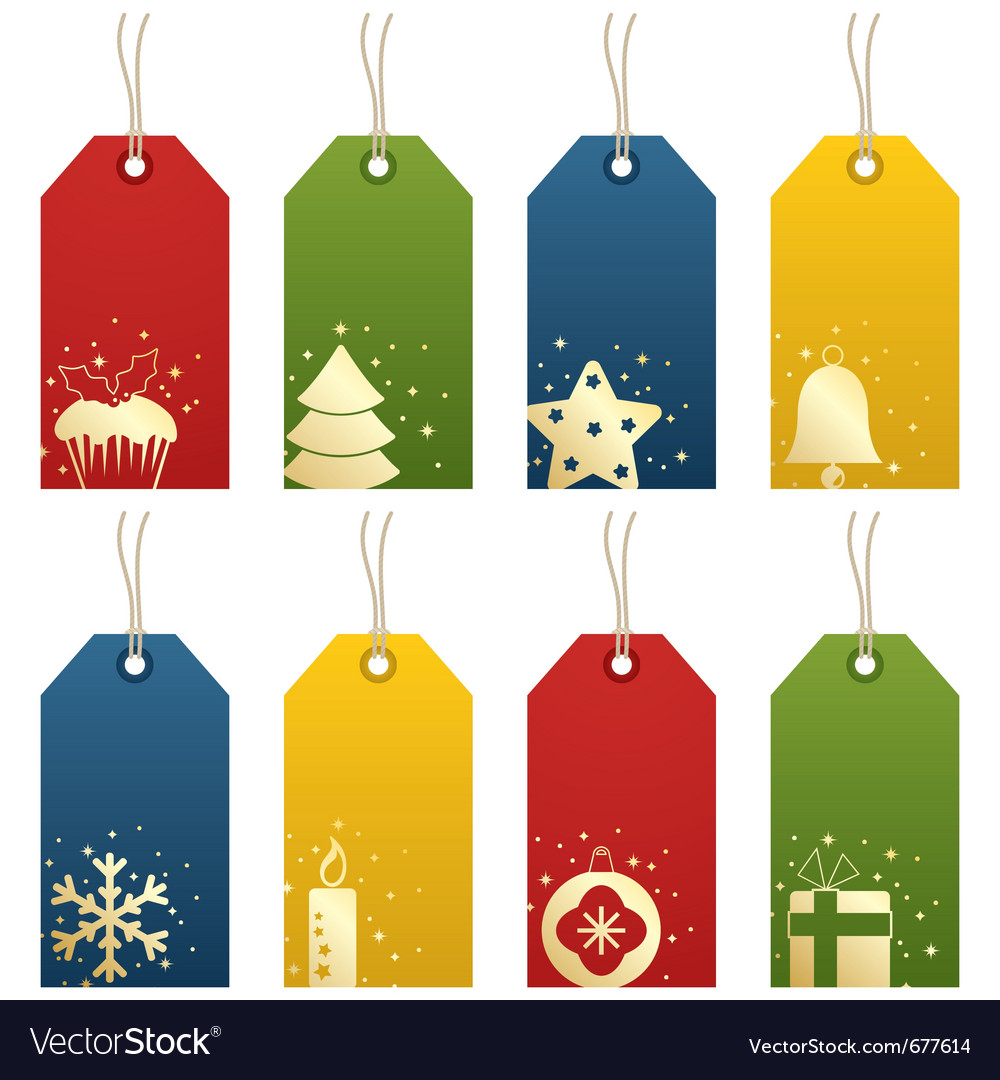 Christmas tags vector | Price: 1 Credit (USD $1)