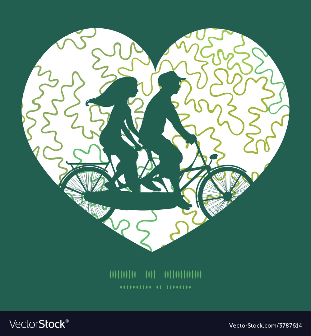 Curly doodle shapes couple on tandem vector | Price: 1 Credit (USD $1)