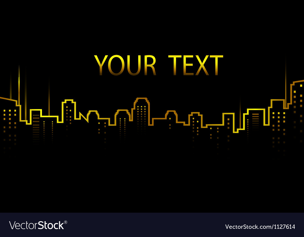Dark background with city skyline and skyscrapers vector | Price: 1 Credit (USD $1)