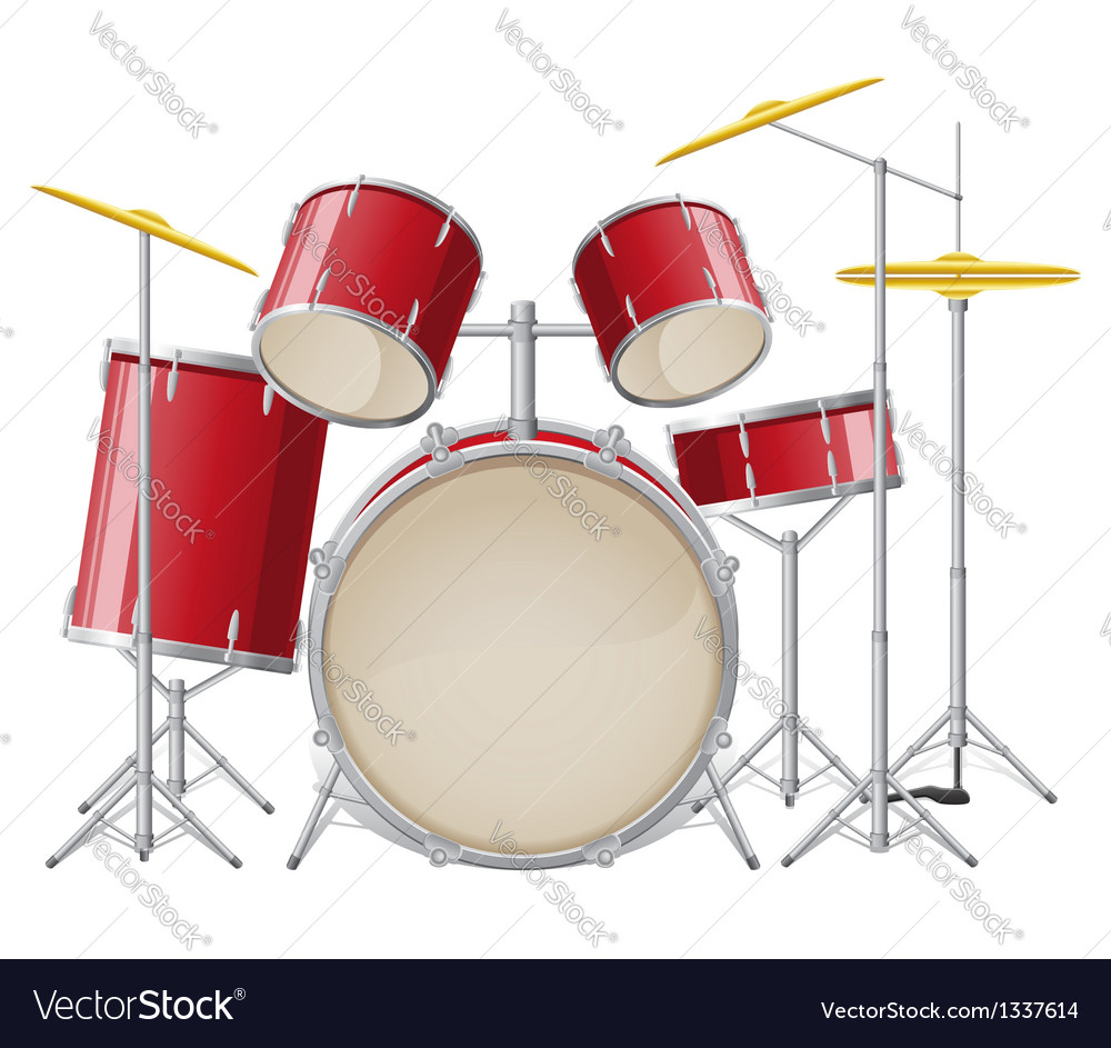 Drum set vector | Price: 3 Credit (USD $3)