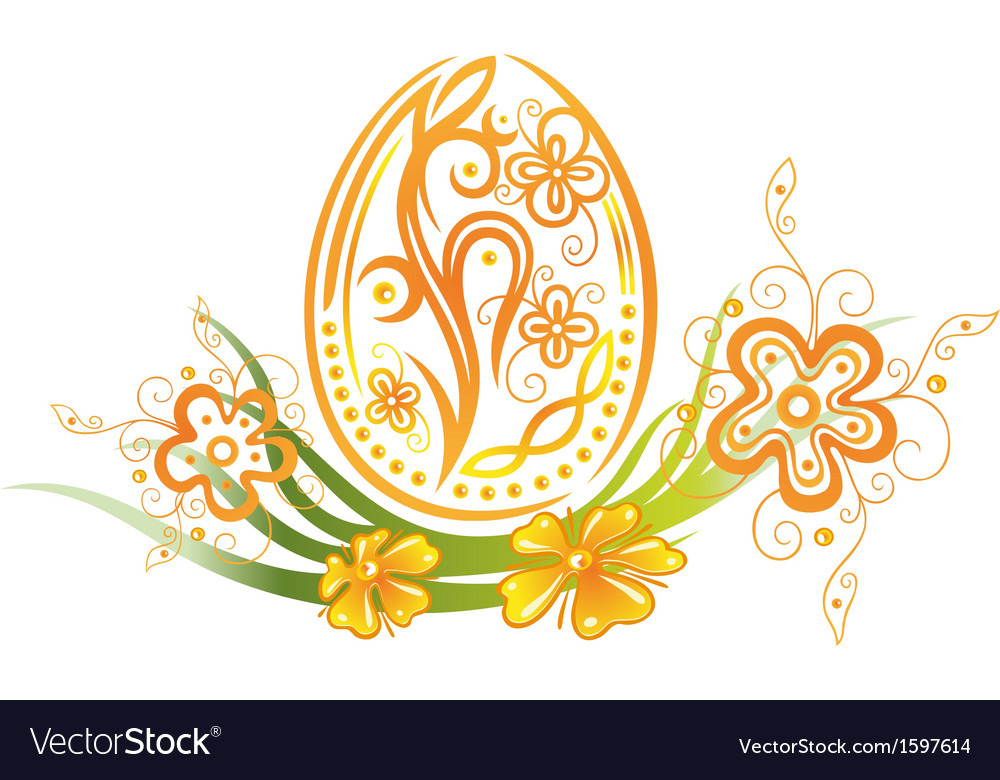 Easter egg flower vector | Price: 1 Credit (USD $1)