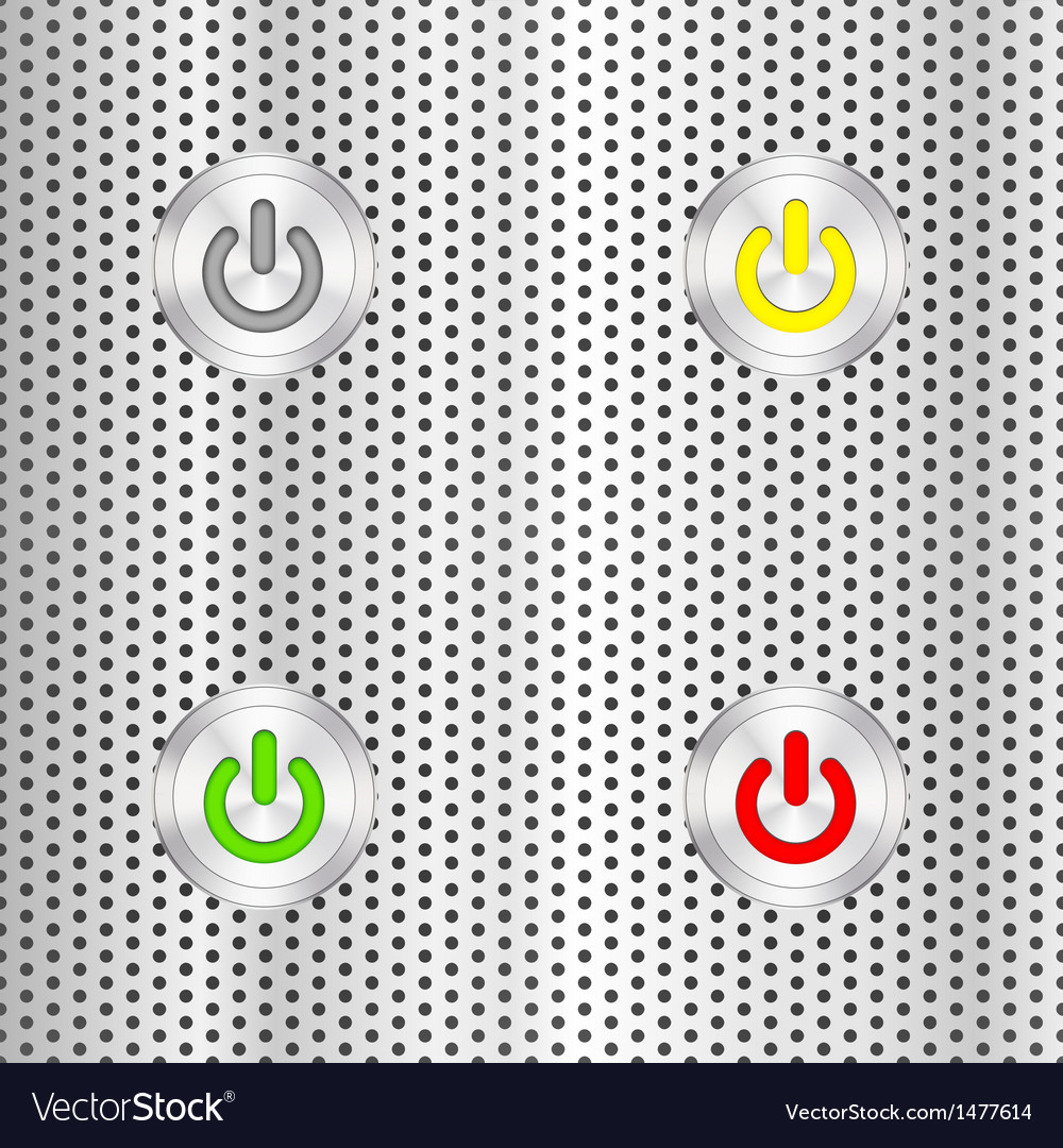 Electric start button vector | Price: 1 Credit (USD $1)